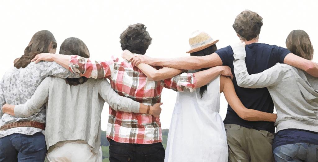 Resultado de imagen para grupo depersonas abrazadas